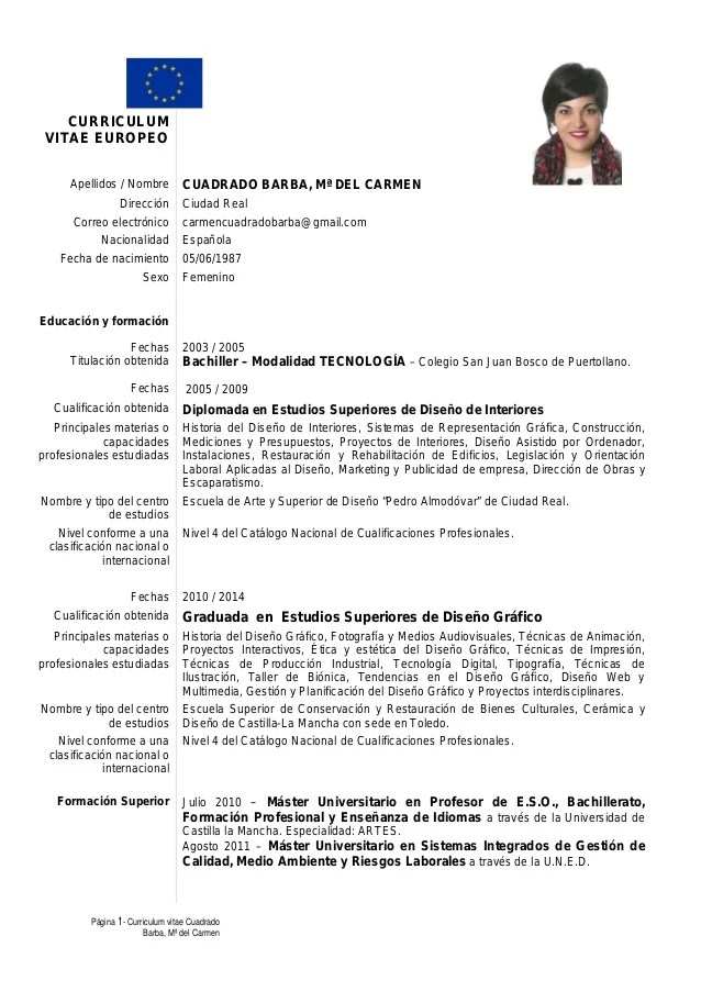 Curriculum Vitae Formato Europeo 2016 Sample Resume Service