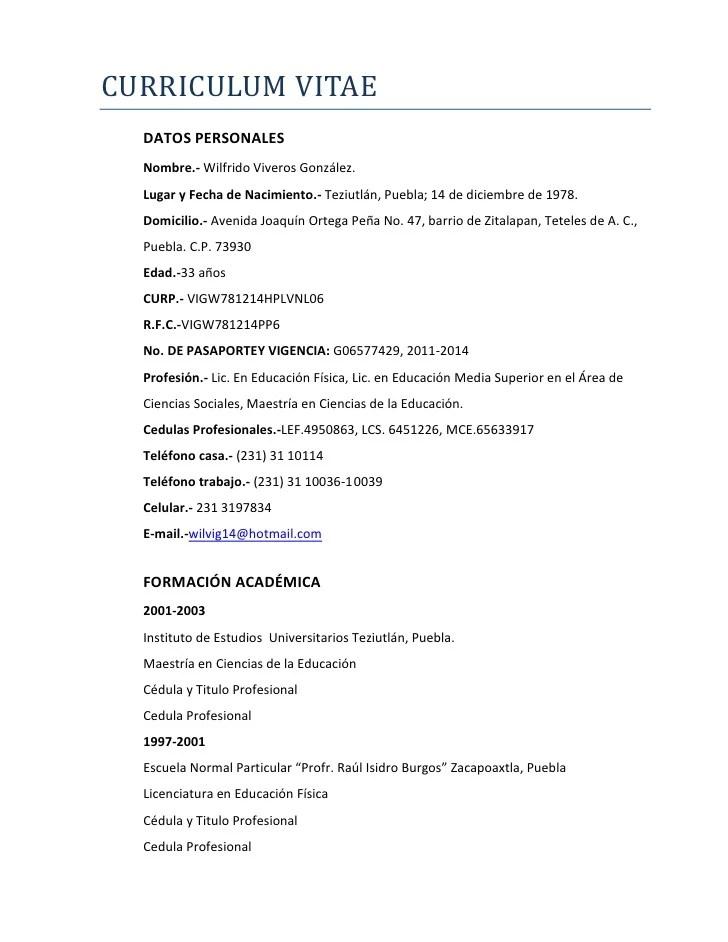 formato de curriculum vitae lucas5