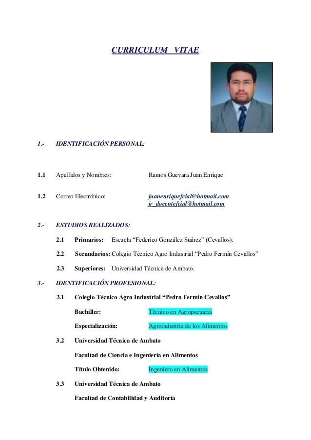 Curriculum Vitae Ejemplos Universitario Sample Resume Service