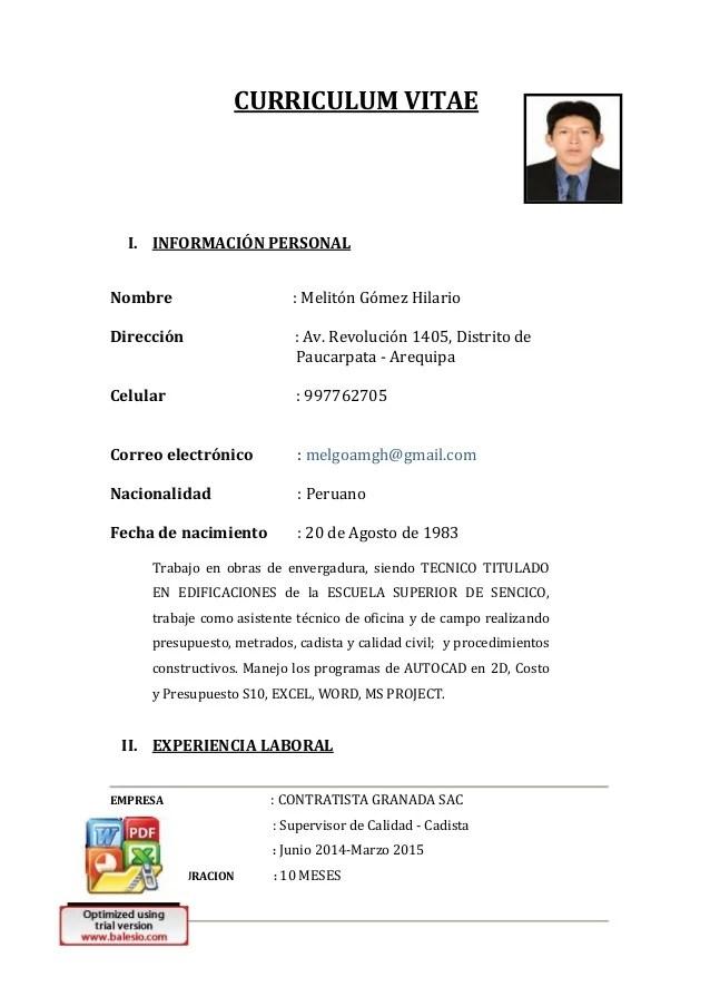 Curriculum Vitae 140320152