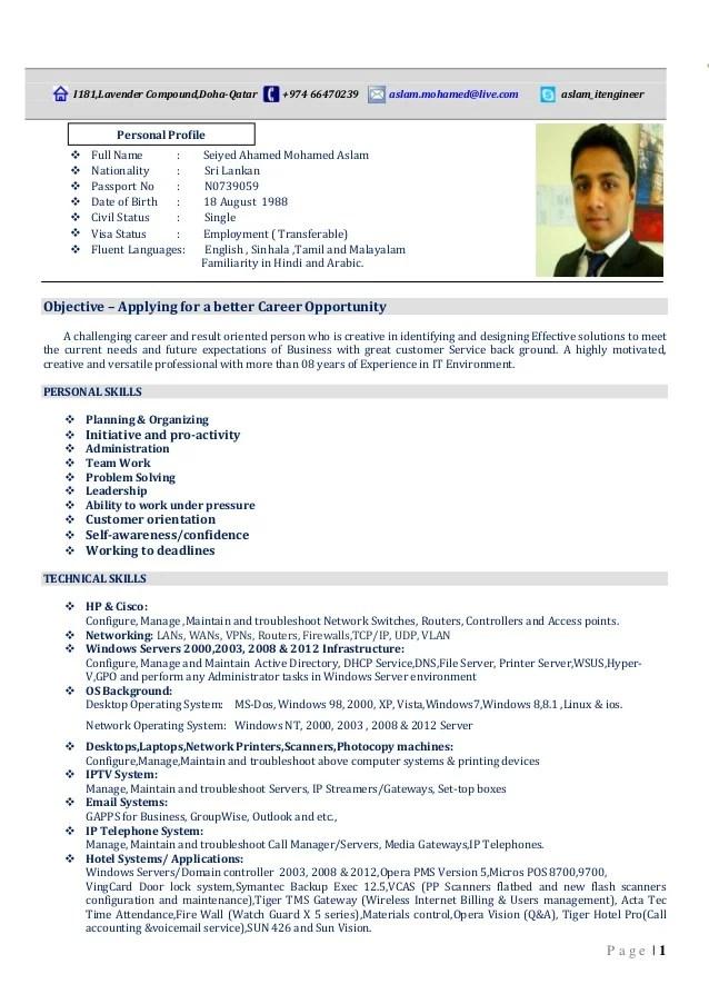 Curriculum Vitae Aslam