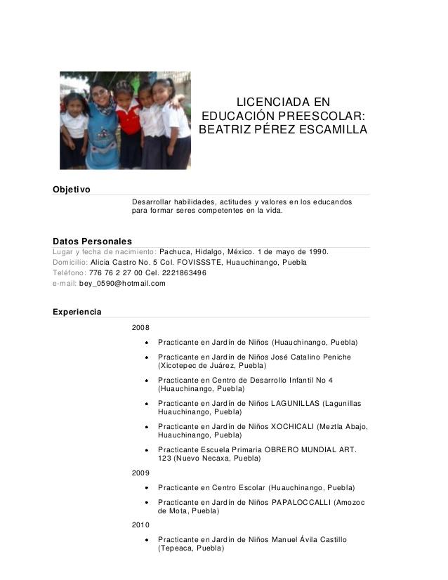 Ejemplo Curriculum Vitae Estudiante Sin Experiencia Recommendation