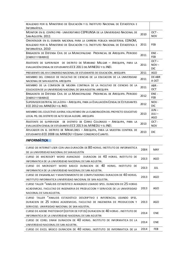 Ejemplos Curriculum Stunning Ejemplo Curriculum Occ Saindeorg With