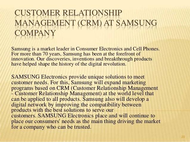 Samsung Customer Relationship Management
