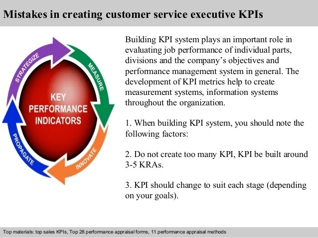 Customer service executive kpi