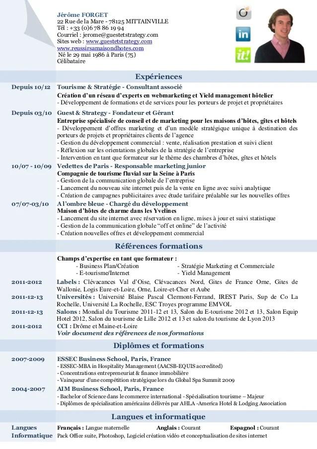 Exemple Modele Cv Consultant Formateur Exemple De Lettre