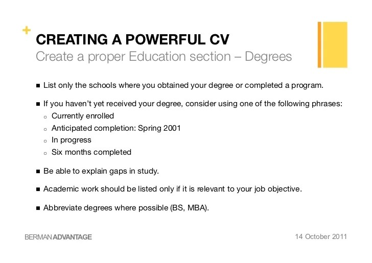 ESEI Creating A Powerful CV And Cover Letter