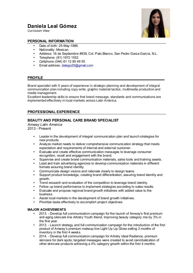 sample resume with address