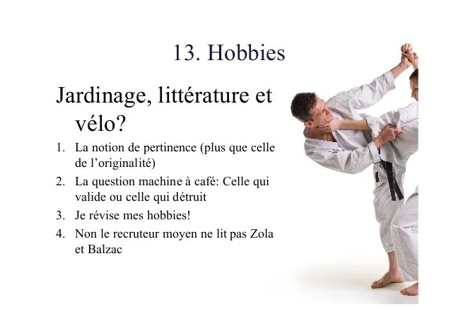 notion langue cv