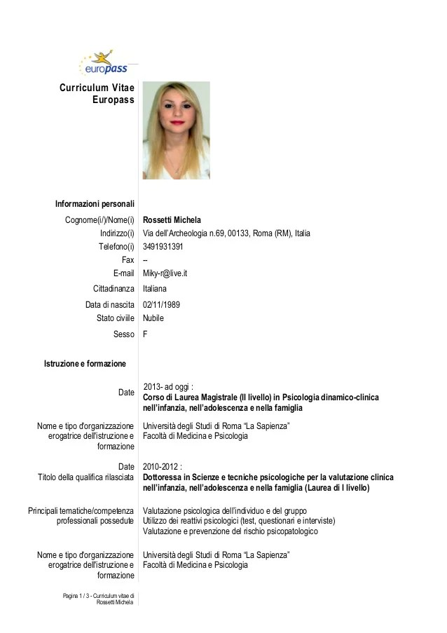 Europass Download The Cv Template And Instructions Cover