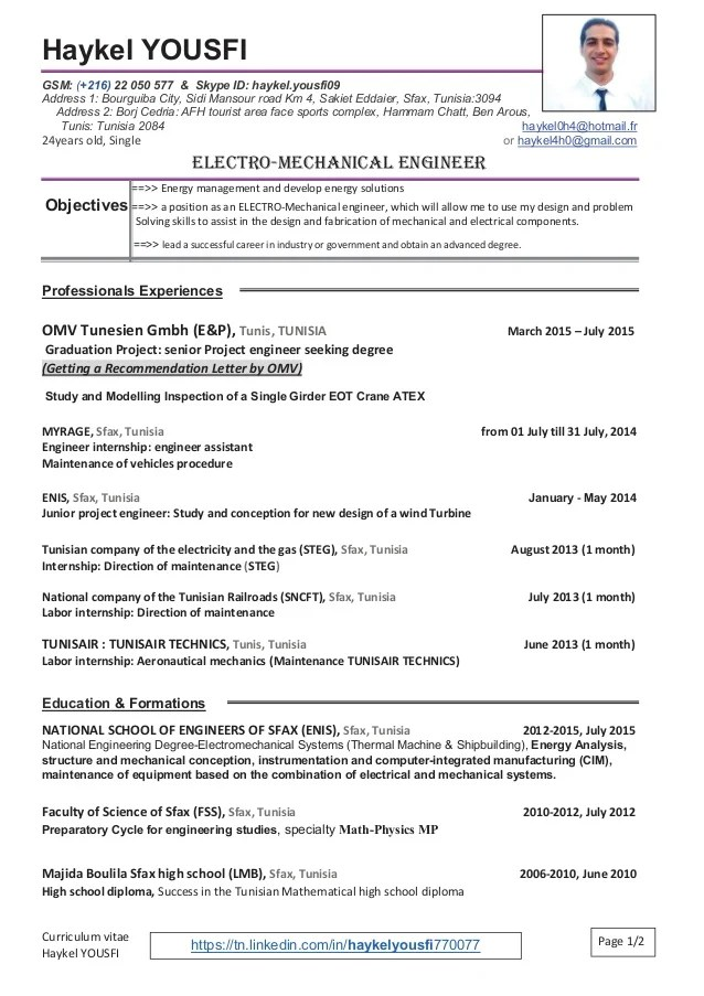 cv in english and french