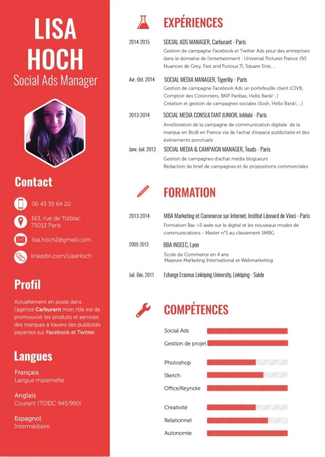 CV Lisa Hoch Social Ads Manager