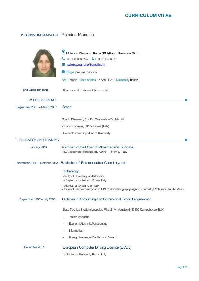 Resume Languages Spoken