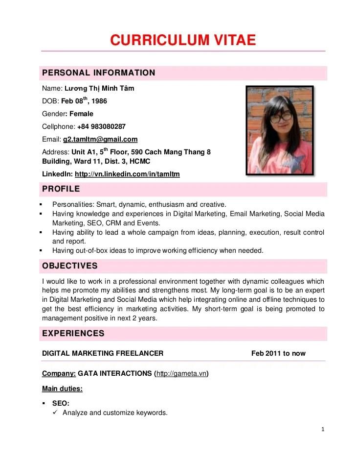 CV Minh Tam Social Media Experts
