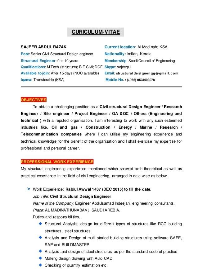 Building Engineer Resume