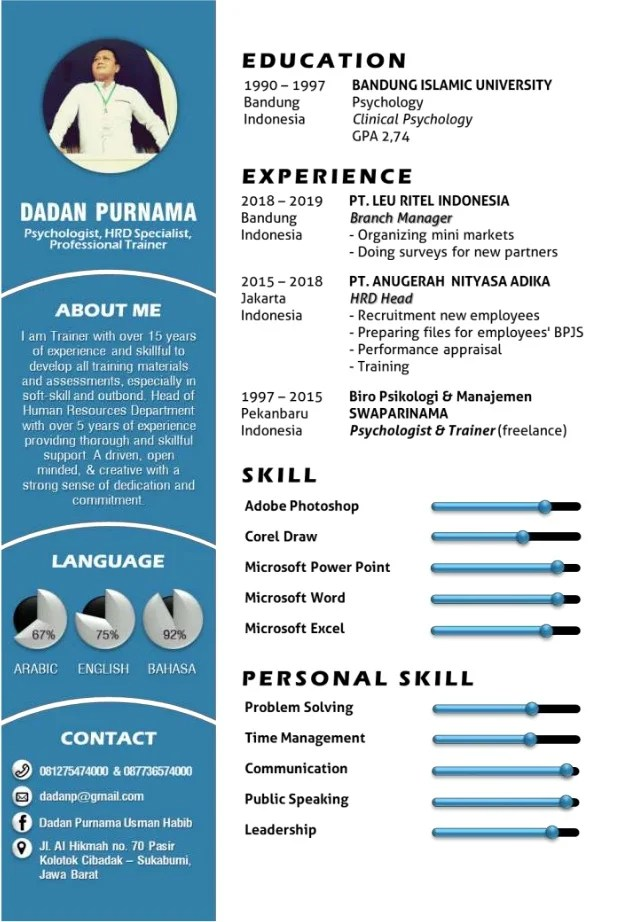 Download Template Cv Indonesia : download, template, indonesia, Resume, Template