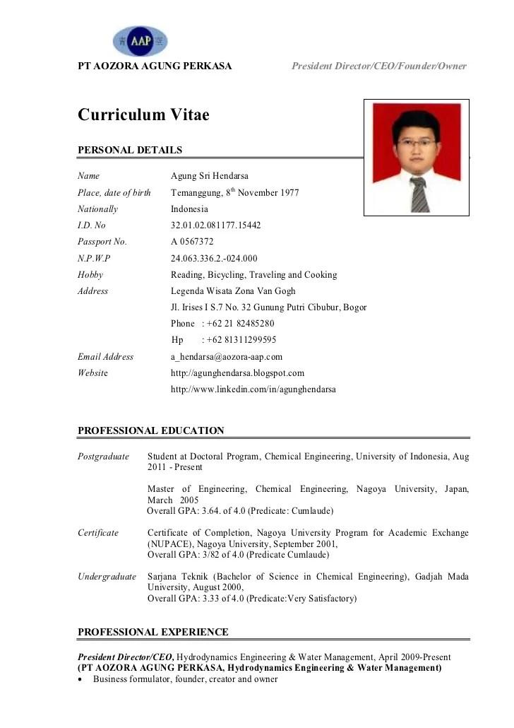 CV Pak Agung