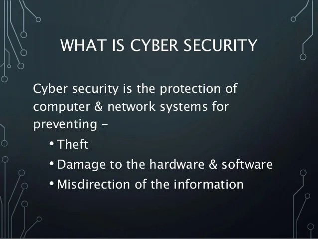 What Cyber Security