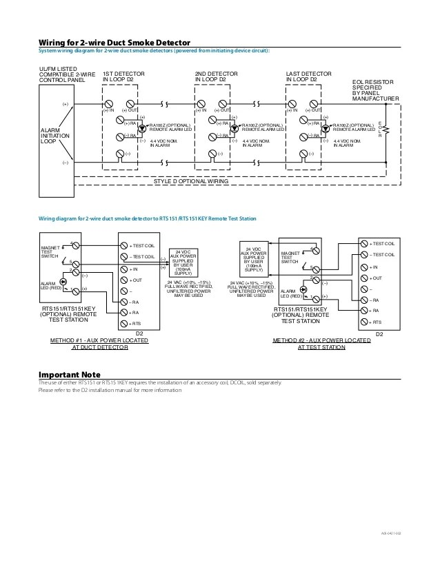 wiring diagram for duct smoke detectors  04 zx10 wiring