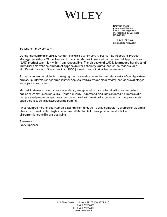 Eb1a Recommendation Letter Template | masterlist foreignluxury co