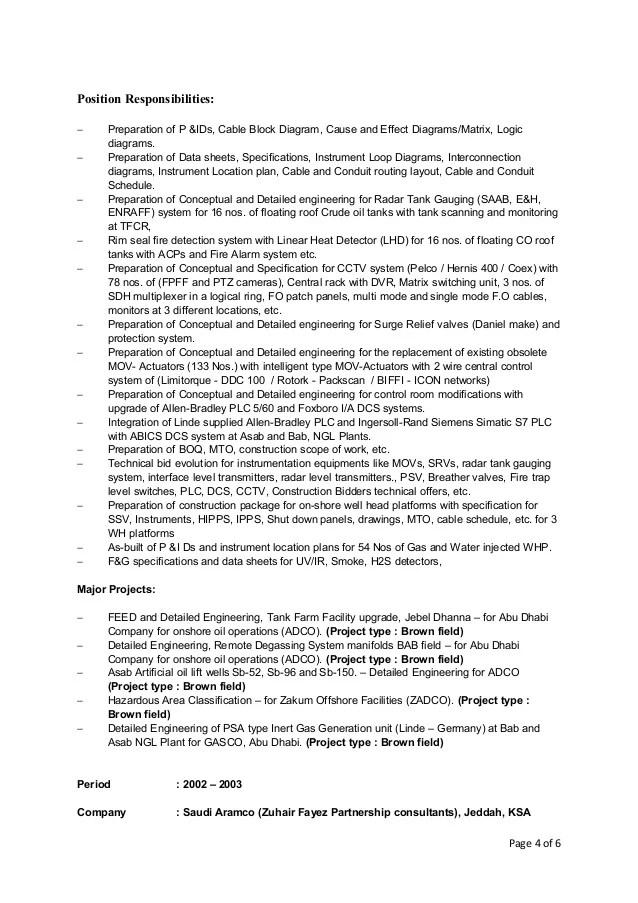 karmegam sekar resume of Instrumentation and Control Engineer