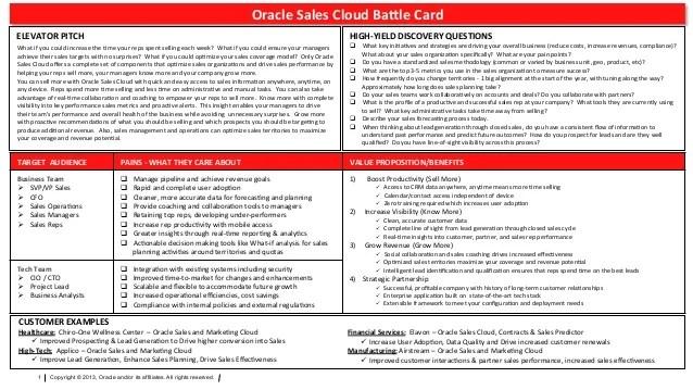Sales Cloud Battle Card