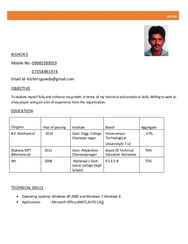 Normal Resume