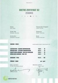 Mit Erfolg Zum Goethe Zertifikat B2 Goethe Zertifikat B2