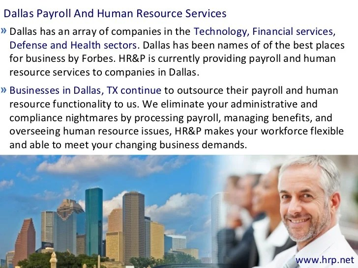 Dallas Payroll Outsourcing And (HR) Human Resource Services For Busin…