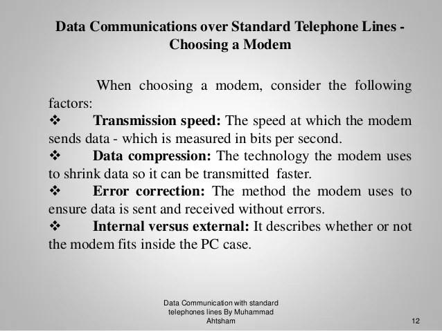Analog Signal Transmission Over Telephone Lines