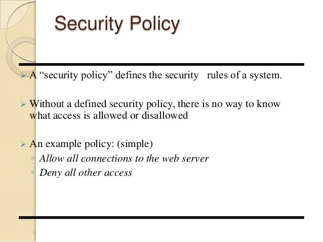 It Security Policy Pdf