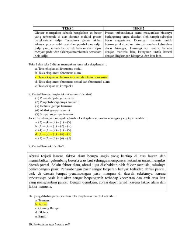 Contoh Soal Teks Eksplanasi : contoh, eksplanasi, Contoh, Pilihan, Ganda, Eksplanasi, Beserta, Jawabannya, Barisan