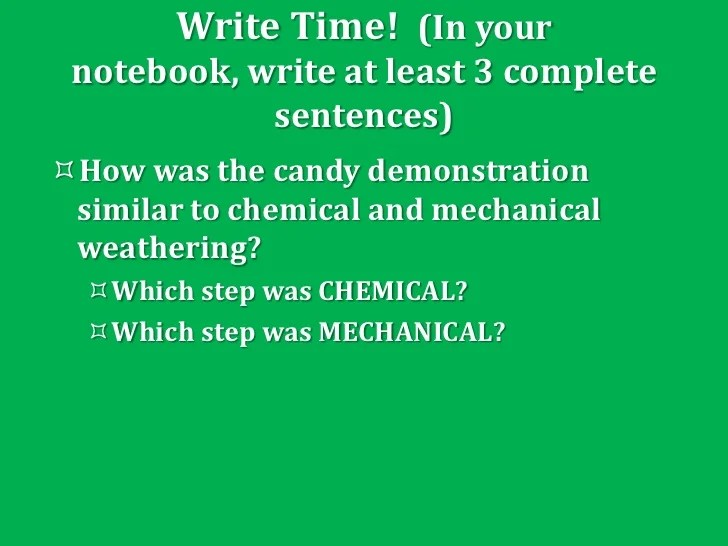 mechanical and chemical weathering venn diagram