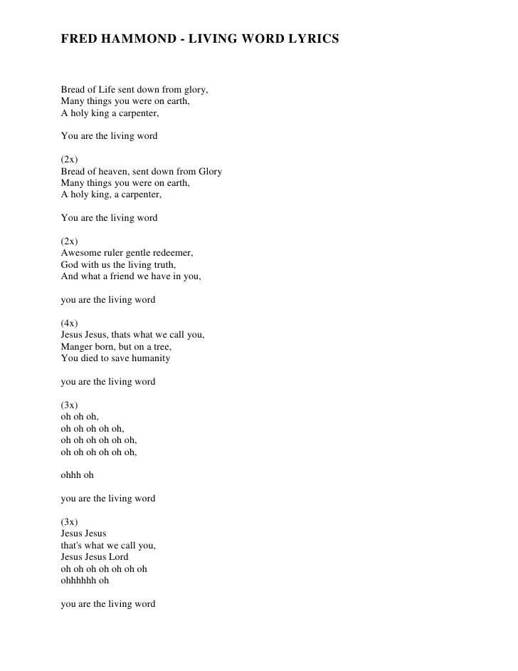 Fred Hammond This Is The Day Lyrics : hammond, lyrics, Elijah, Lyrics