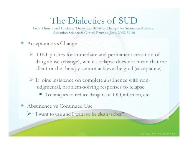 DBT for those with BPD and Substance Use Disorders