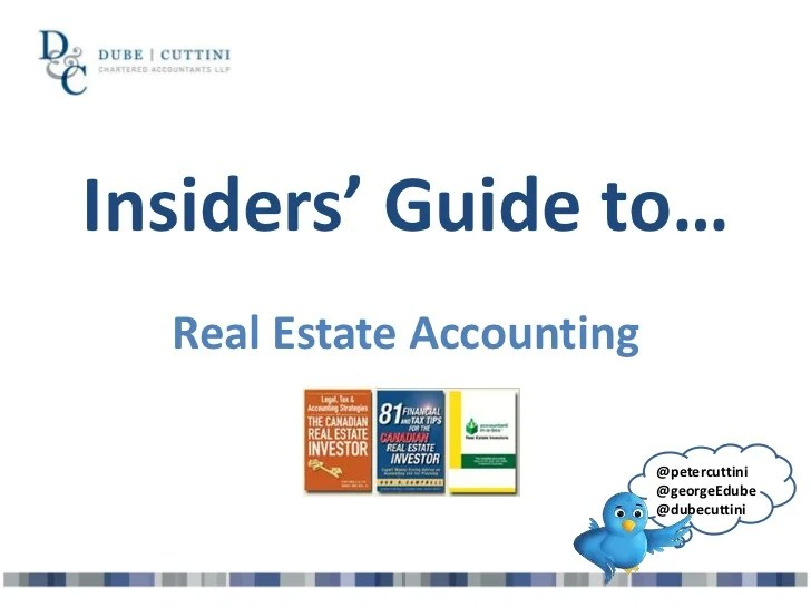 Insiders guide to real estate accounting
