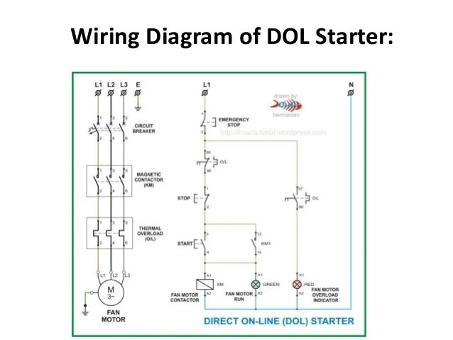 wiring diagram of magnetic contactor 5 pin flasher relay dc and ac motor starter dol