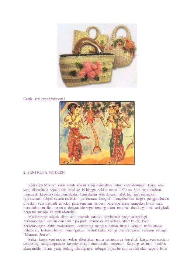 Karya Seni Rupa Terapan yang Ada di Nusantara - SarungPreneur