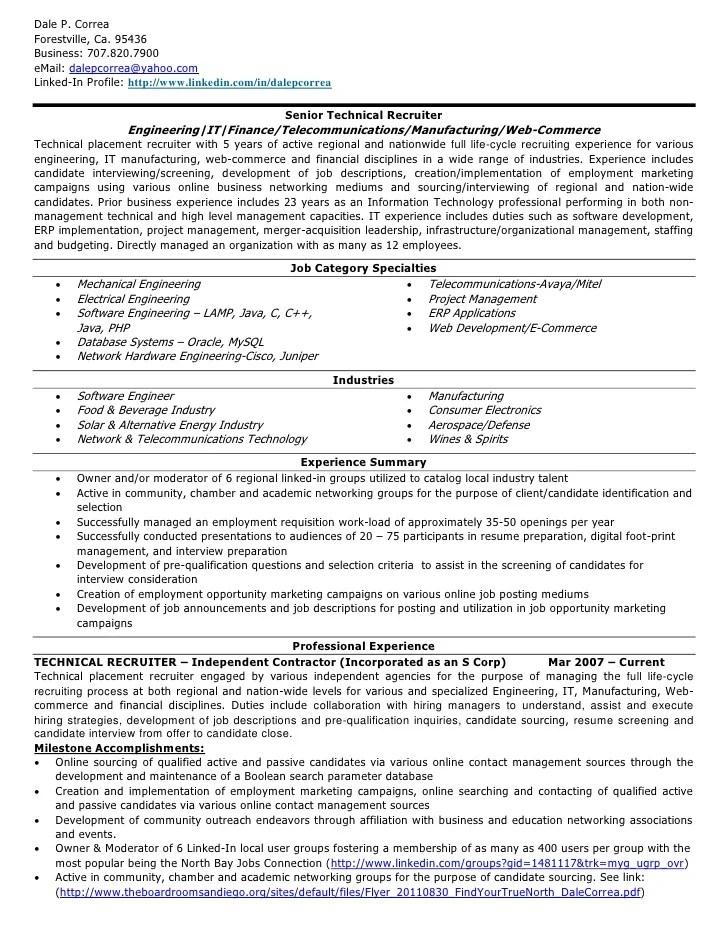 D Correa Resume Technical Recruiter V20111024