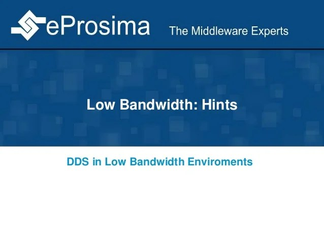 DDS Over Low Bandwidth Data Links