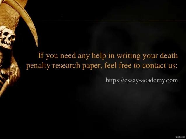 Death Paper Penalty Term Coursework Service