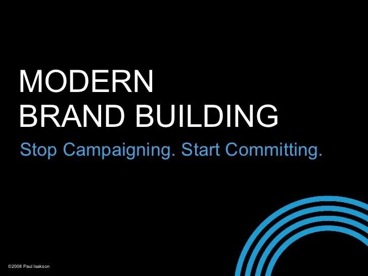 Modern Brand Building