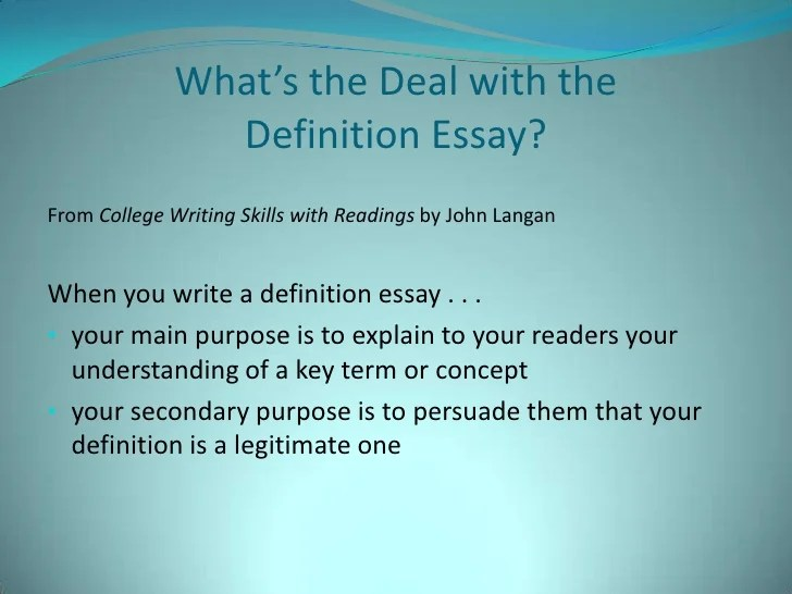definition essay writing