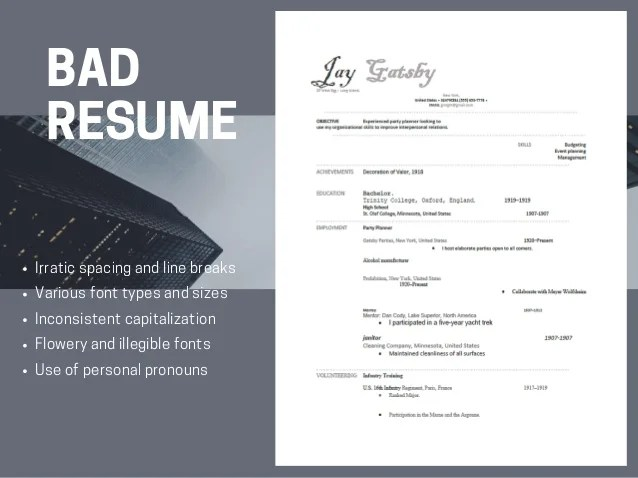 resume font size and line spacing
