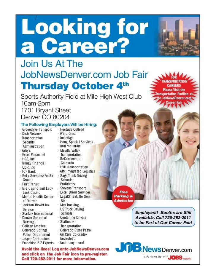 Denver 10 4 Career Fair Flyer