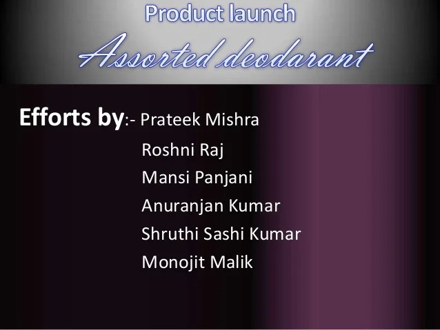 Product Launch Ppt