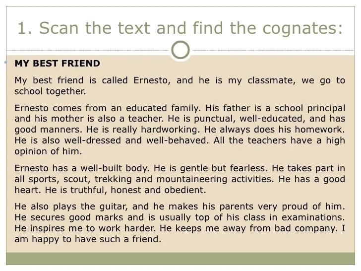 Essay about my friend description