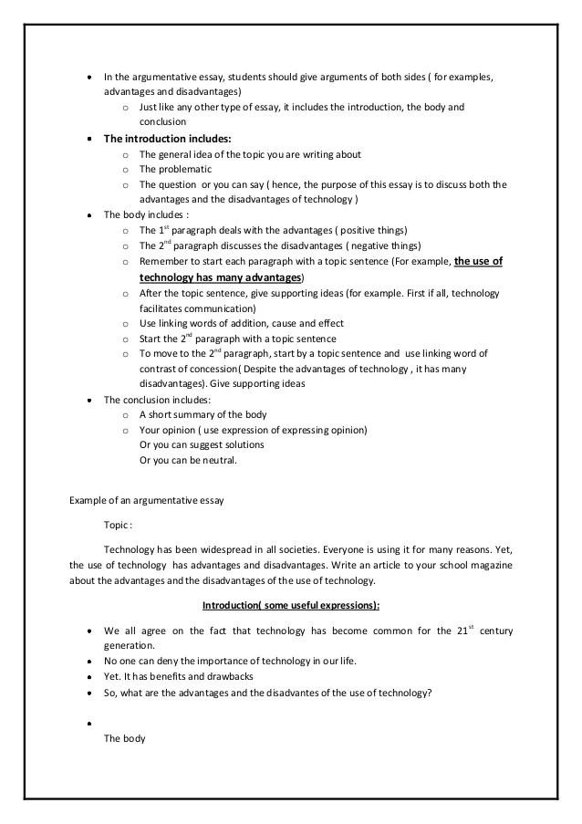 tips on writing argumentative essays