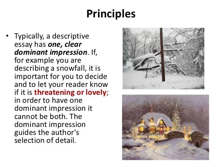 Descriptive essay ppt 2012