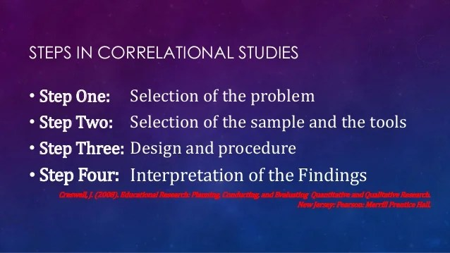 Descriptive Research And Correlational Research